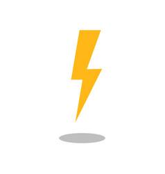 lightning bolt icon filled flat sign vector image