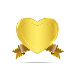 Premium Gold badge tag banner 005 vector image