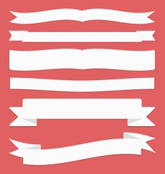 ribbons set flat design ribbons and banners vector image