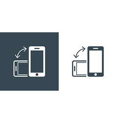 Rotate Smartphone or Cellular Phone Icons Set in vector image