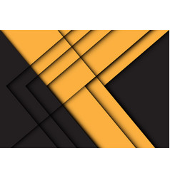 abstract yellow black line arrow shadow direction vector image