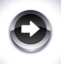 Arrow 3d button vector