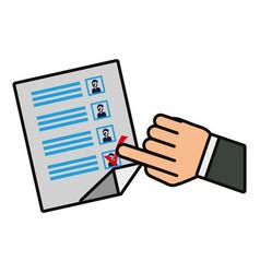 Ballot paper icon vector