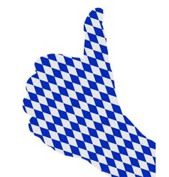 Bavarian finger signal vector image