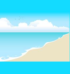 Beach cartoon vector