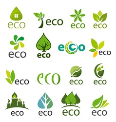 Biggest collection of logos eco vector