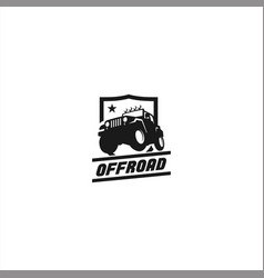 Black and white offroad logo template vector