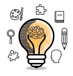 Brain storming design vector
