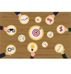 Business meeting and brainstorming vector image
