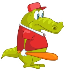 cartoon character crocodile vector image