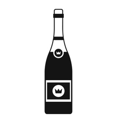 Champagne icon simple style vector image