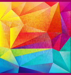 colorful origami background vector image