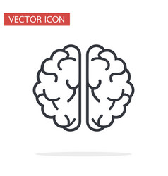 creative brain icon flat vector image