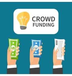 Crowdfunding process Investing to startup vector image