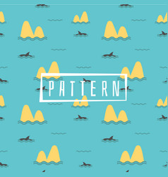cute marine pattern for fabric vector image