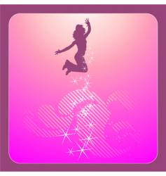 disco dancing girl vector image