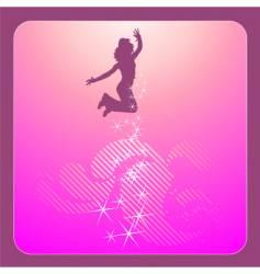 Disco dancing girl vector