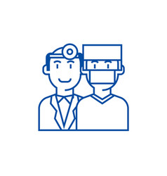doctorshealth caremedicine insurance line icon vector image