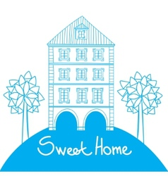 Doodle style house vector image