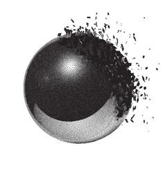 Dotwork raster ball explosion vector