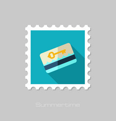 Electronic keycard stamp summer vacation vector