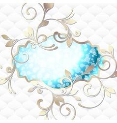 emblem in vibrant blue on white vector image