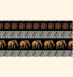 Ethnic trend painting in african style seamless vector