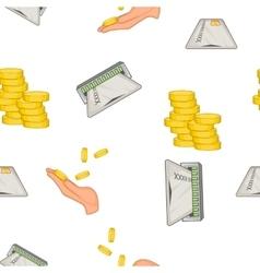 Finance pattern cartoon style vector