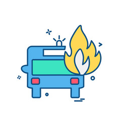 fire truck icon design vector image