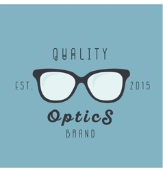 Glasses logos brand trend sign vector image vector image