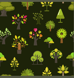 green tree seamless pattern background green vector image