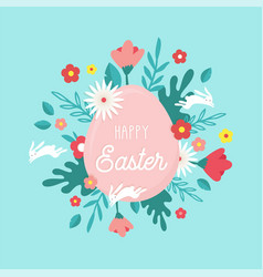 happy easter greeting card posteror banner vector image