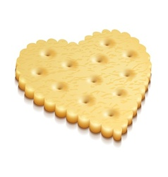 heart crisp cookie snacks vector image