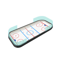 hockey rink on white vector image