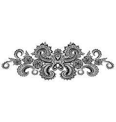 horizontal black floral border vector image