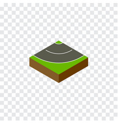 Isolated asphalt isometric road element vector
