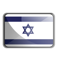 israel flag on white background vector image