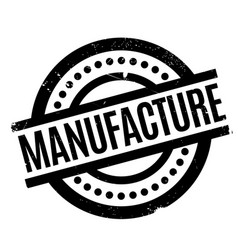 Manufacture rubber stamp vector