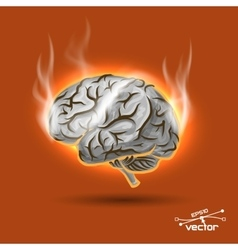 Melting brain vector image vector image