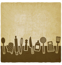menu or recipe book design set of kitchen vector image