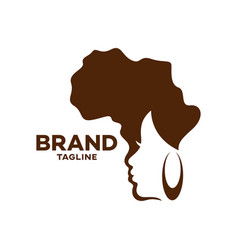 modern logo beauty and african woman vector image
