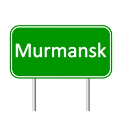 Murmansk road sign vector image