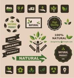 Natural logo vector