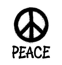 Peace symbol icon spray art vector