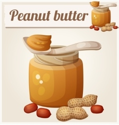 Peanut butter Detailed Icon vector