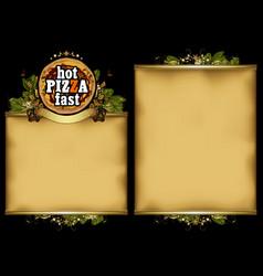 Pizzeria menu design vector