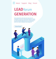 popular lead forum generation vertical banner vector image