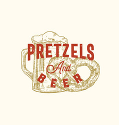 pretzels and beer week abstract sign vector image