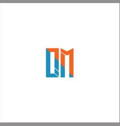Q m letter logo design on black color background vector