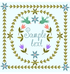 Retro doodle floral background vector image